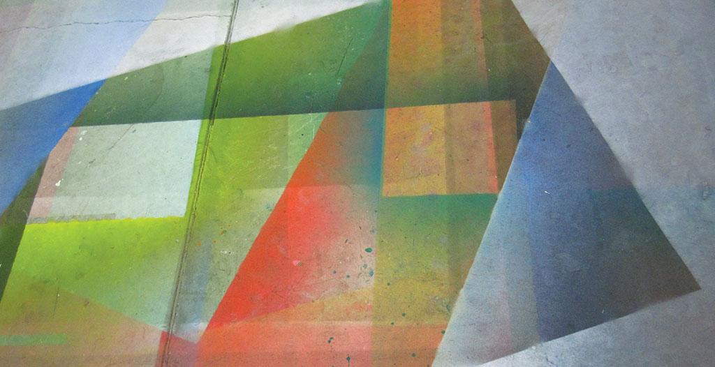 Tauba Auerbach's studio floor, New York. Photographs by the artist.