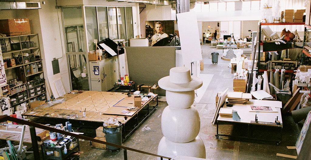 Urs Fischer's studio, New York. Photographs by Peter Sutherland