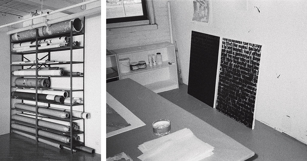 Glenn Ligon's studio, New York. Photographs by Peter Sutherland