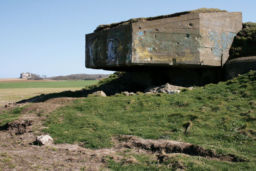World War II bunker from the Atlantic Wall, France. Photograph by Michel Wal