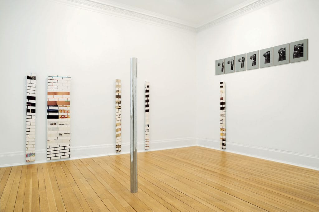 "View of ""Kelley Walker,"" Thomas Dane Gallery, London, 2010, Courtesy of Paula Cooper Gallery, New York"