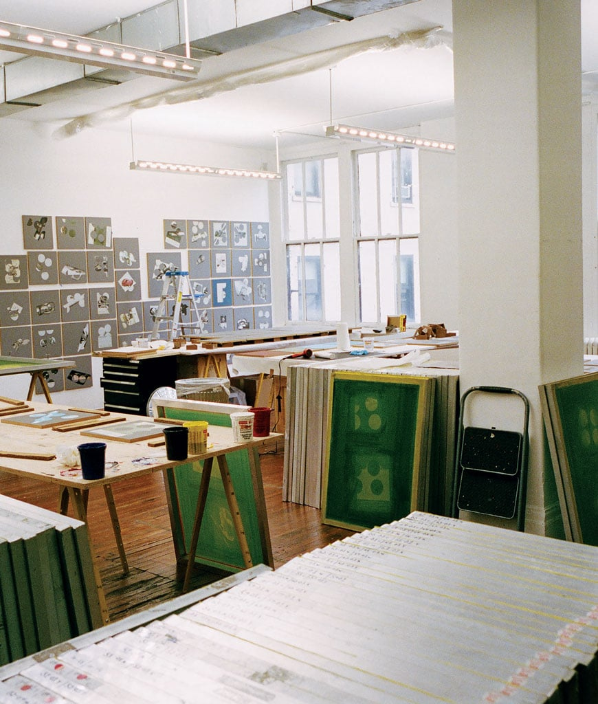 Kelley Walker's studio, New York. Photographs by Peter Sutherland