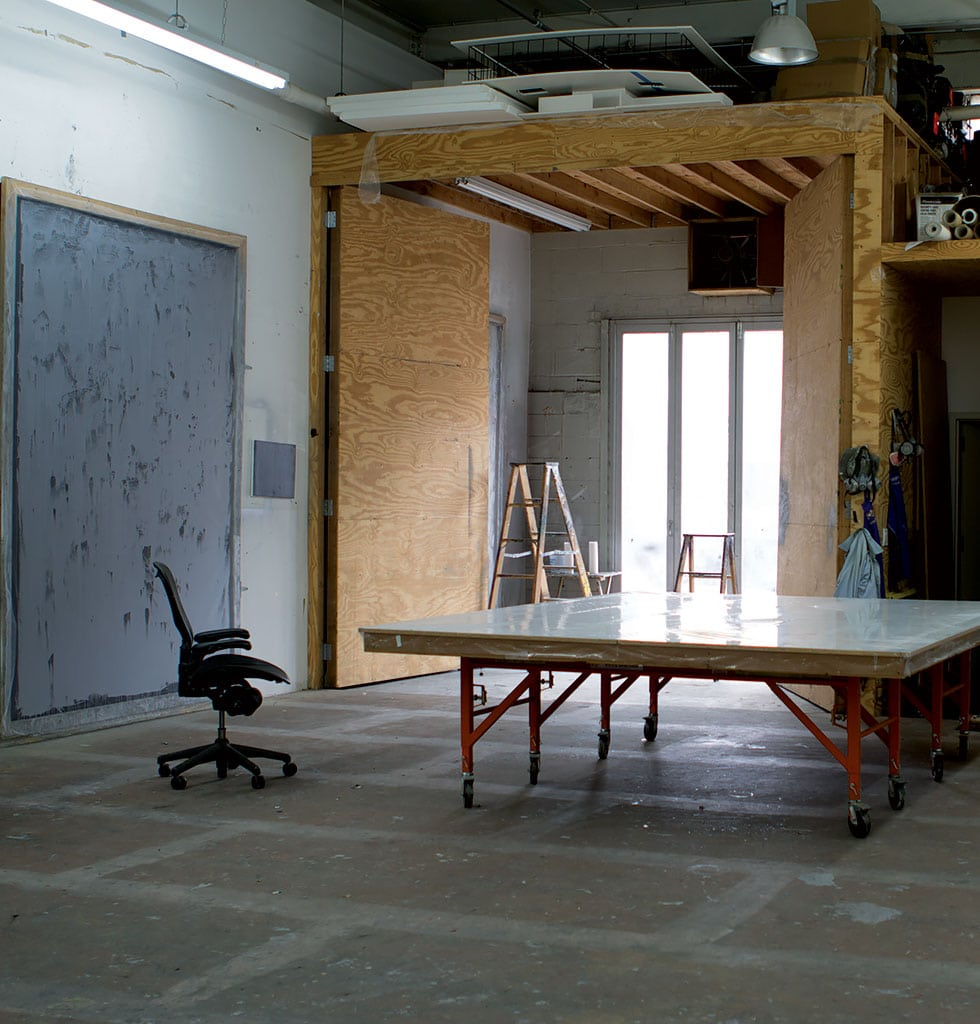 Rudolf Stingel's studio, New York